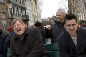 "Good times on the set of ""In Bruges""...before Focus Features dropped the ball."